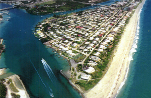Jupiter Inlet Colony - Surrounded by the Atlantic Ocean, the Loxahatchee River, and the Intracoastal Waterway.  Linda Bruins, the real estate professional, will help you find the seldom available home for you in this tiny community, home to Kid Rock and Olivia Newton-John.